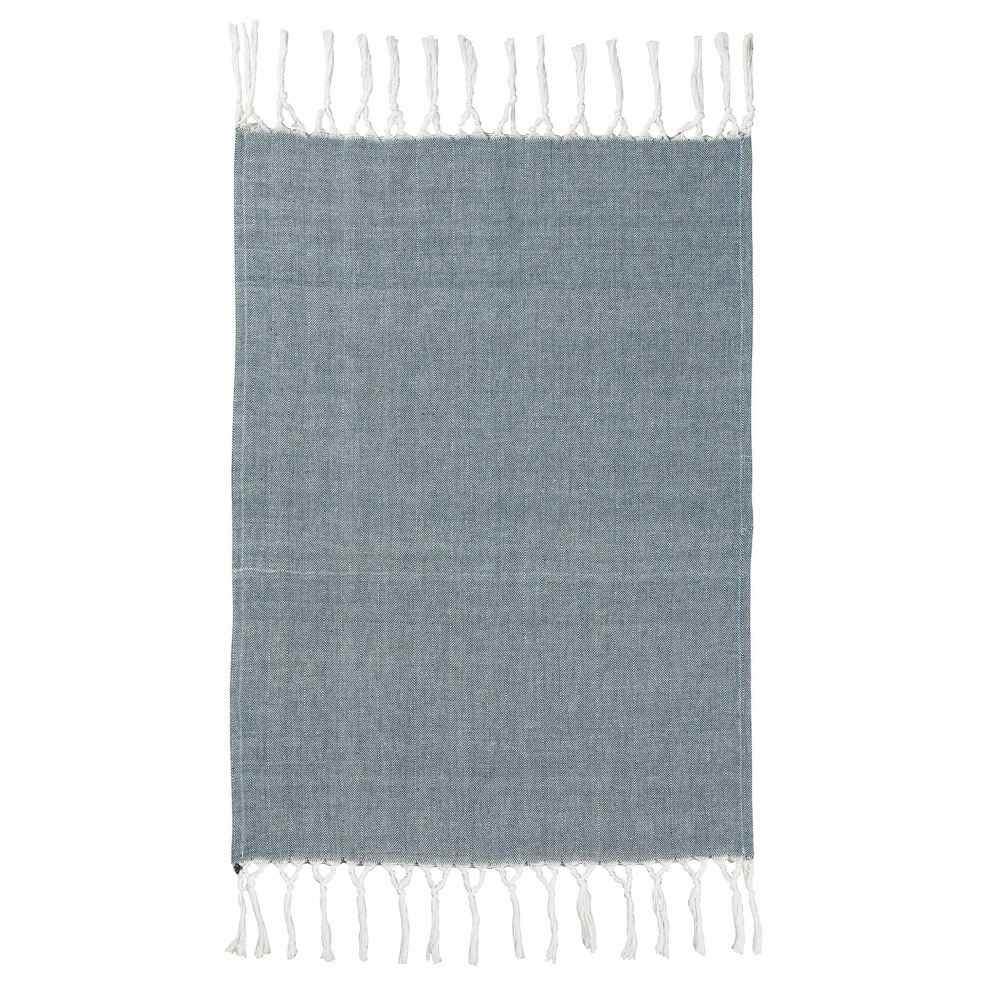 IKA INNEHÅLLSRIK Tea towel, handmade dark blue