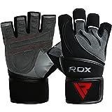 RDX Gants de Musculation Poignet workout Crossfit Fitness Entrainement Gymnastique Cuir Vachette Powerlifter Gym Gloves Perméable à l'air Halterophilie