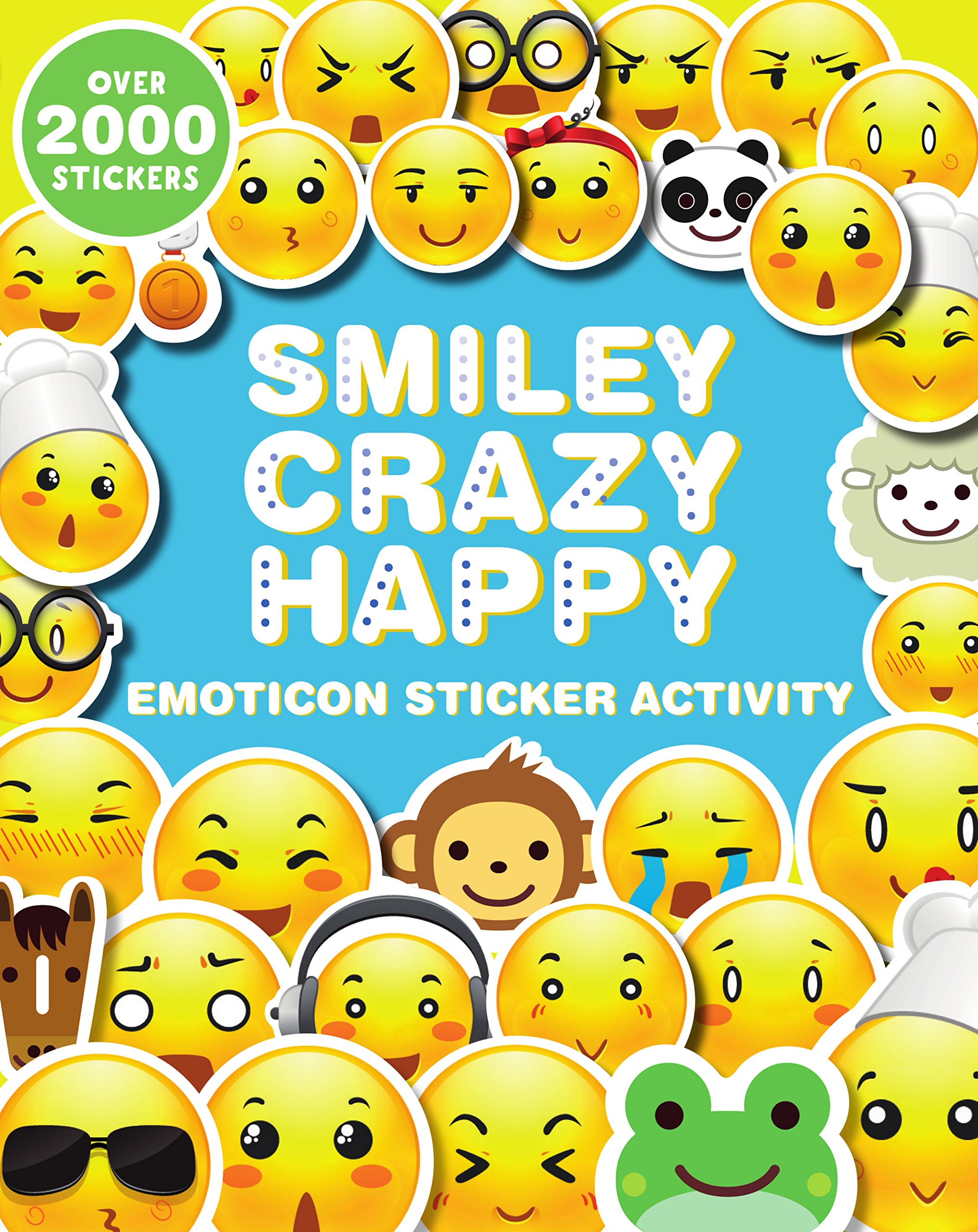 Buy smiley crazy happy emoticon sticker activity 2000 stickers book online at low prices in india