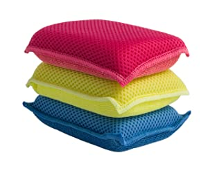 Ultra Micro Fiber Miracle Sponge 3 Pack Blue - Red - Yellow