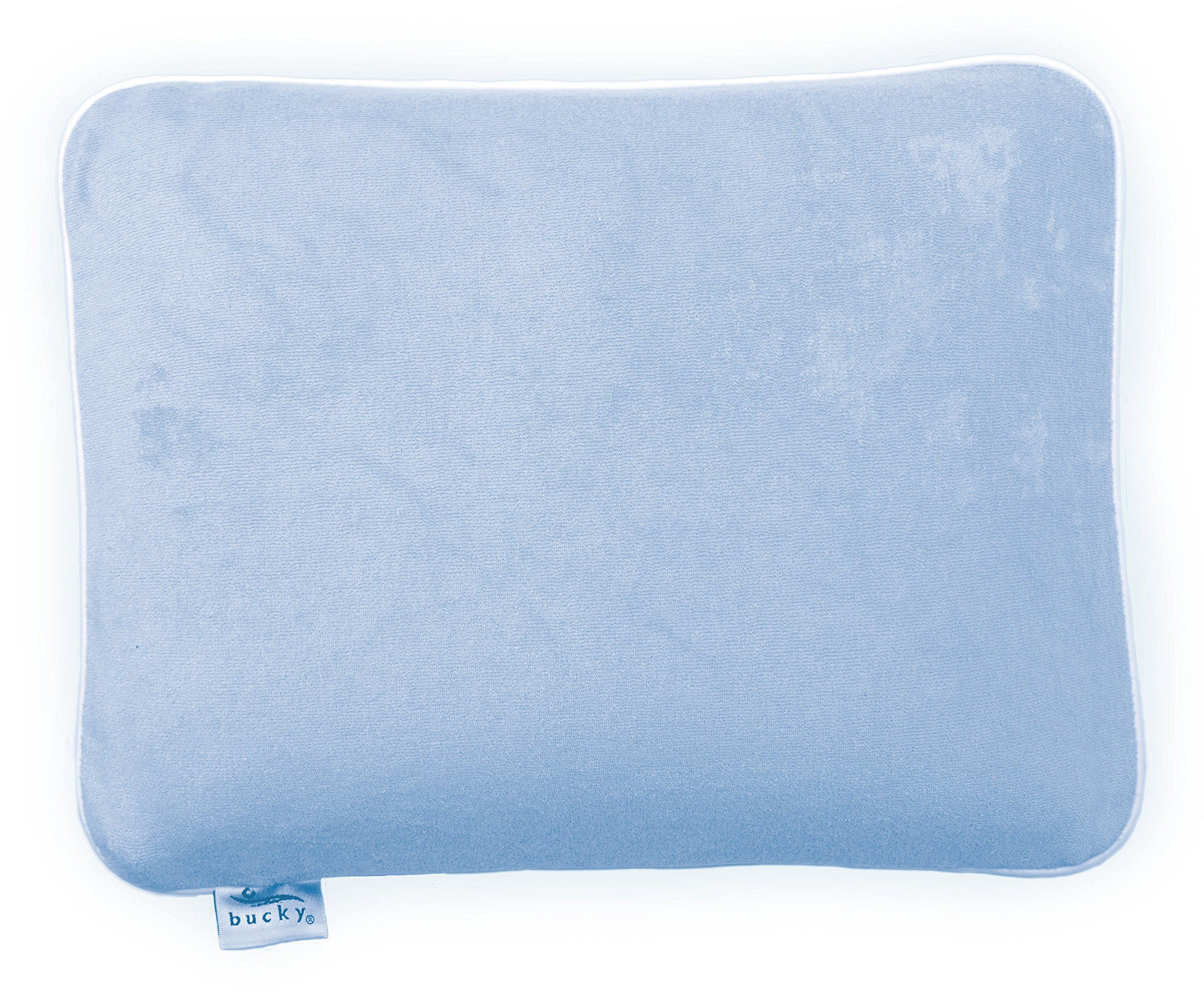 Bucky T750WBL Small Pillow for Travel and Kids, All Natural Millet Hull Fill, Extra Soft Cover, 13.5x10 - Blue