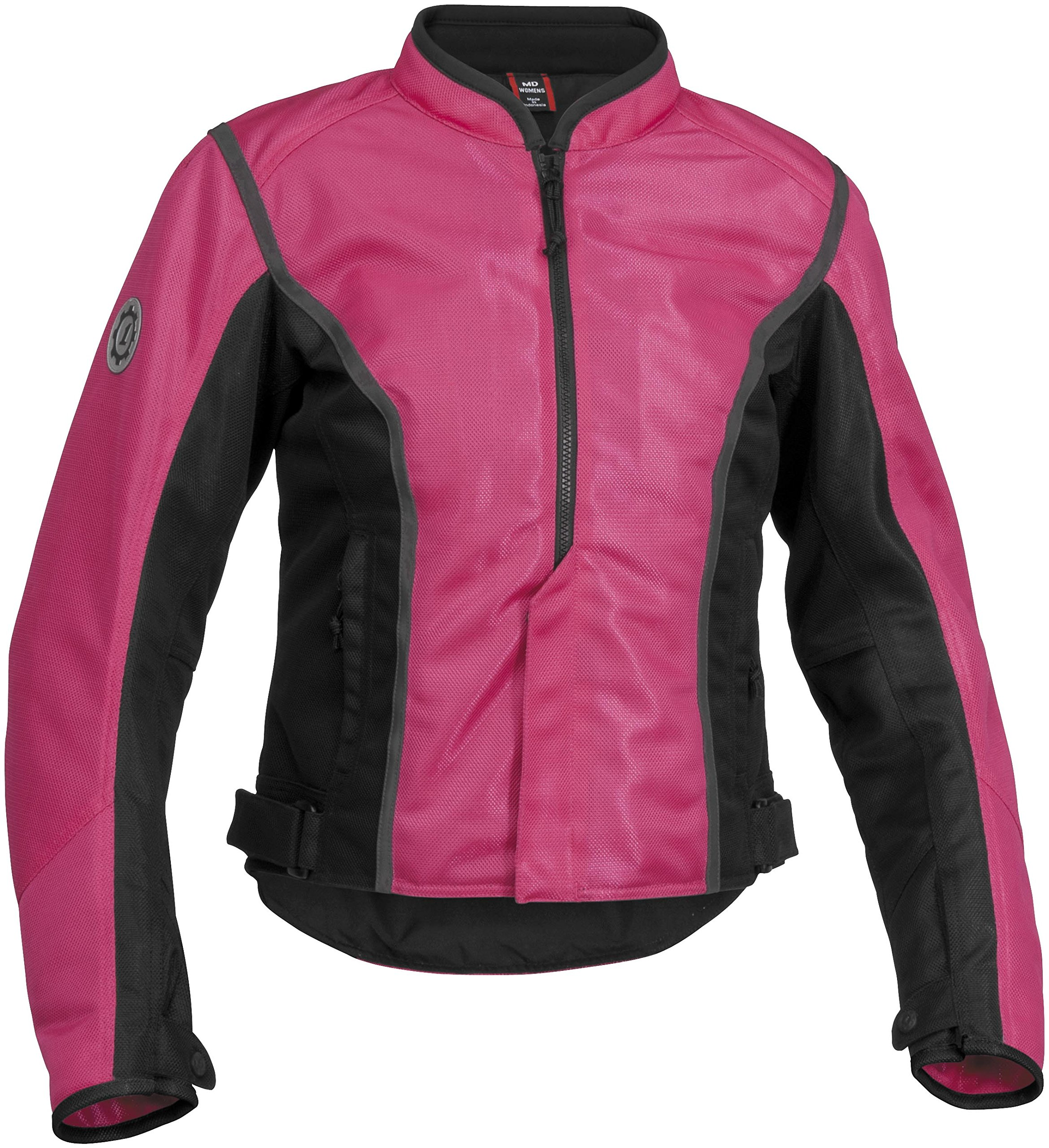 Firstgear Contour Mesh Women's Textile Motorcycle Jacket (Pink/Black, Small)