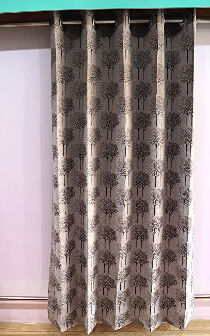 Buy TMS Alfina 2 Pieces Synthetic Material Curtain for Window - 9ft