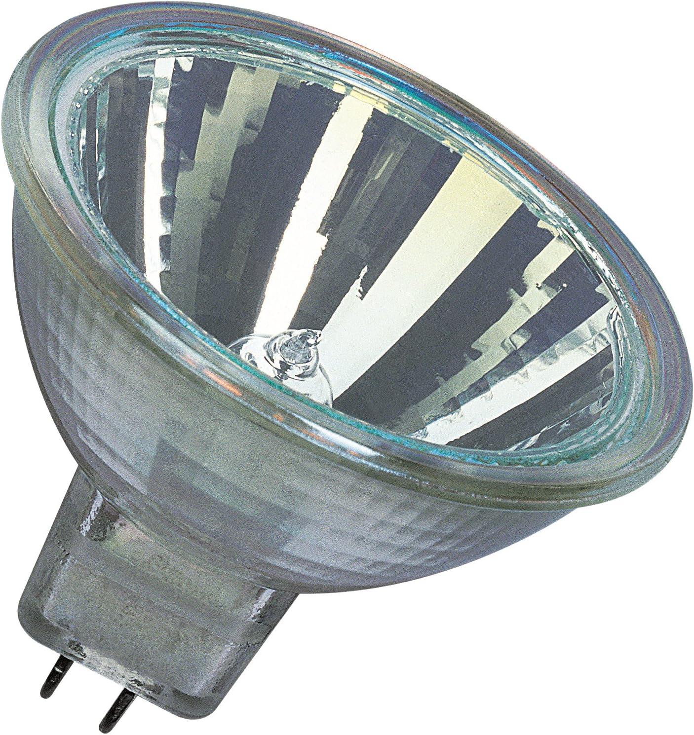 Osram 10-er Set Decostar EEK C 51s 12 Volt 35 Watt Sockel Gu5,3 36 Halogenlampe mit Kaltlichtspiegelreflektor und Abdeckscheibe Durchmesser 51 mm 44865WFL