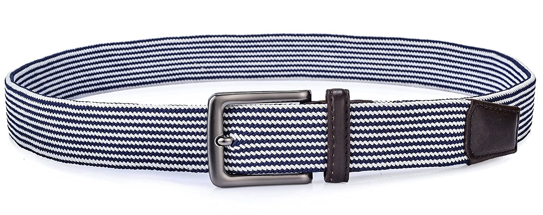 Ayli Mens Casual Jean Belt Soft and Comfort Braided Elastic Stretch Belt