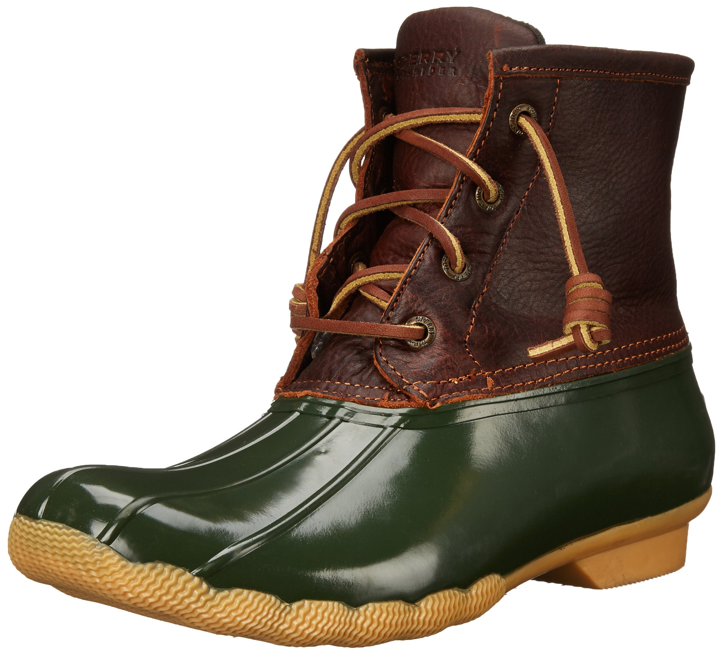 Sperry Top-Sider Women's Saltwater Boot, Tan/Green, 9.5 M US by Sperry Top-Sider