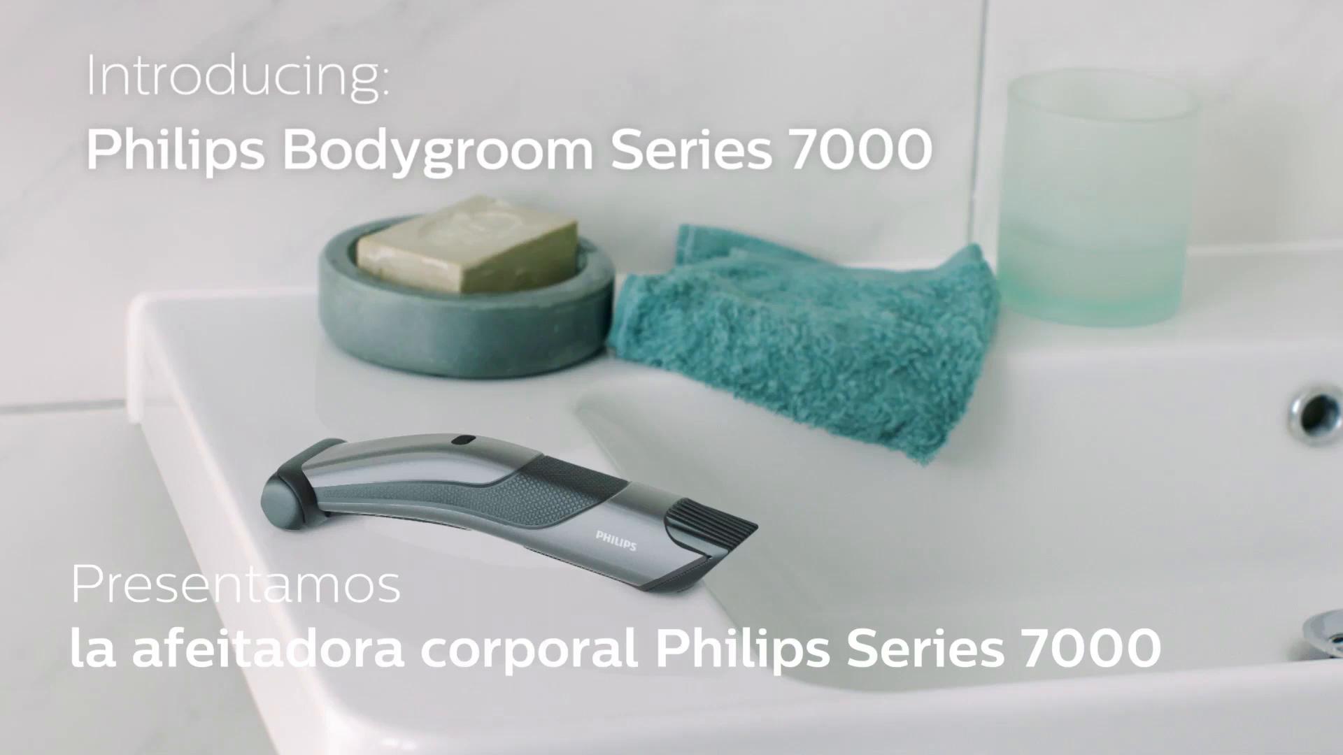 Philips Serie 7000 BG7020/15 - Afeitadora corporal con cabezal de recorte y de afeitado, apta para la ducha, 70 minutos de uso: Amazon.es: Salud y cuidado personal