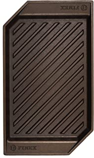 """product image for FINEX 15"""" Cast Iron Lean Grill Pan, Modern Heirloom, Handcrafted in the USA, Pre-seasoned with Organic Flaxseed Oil"""