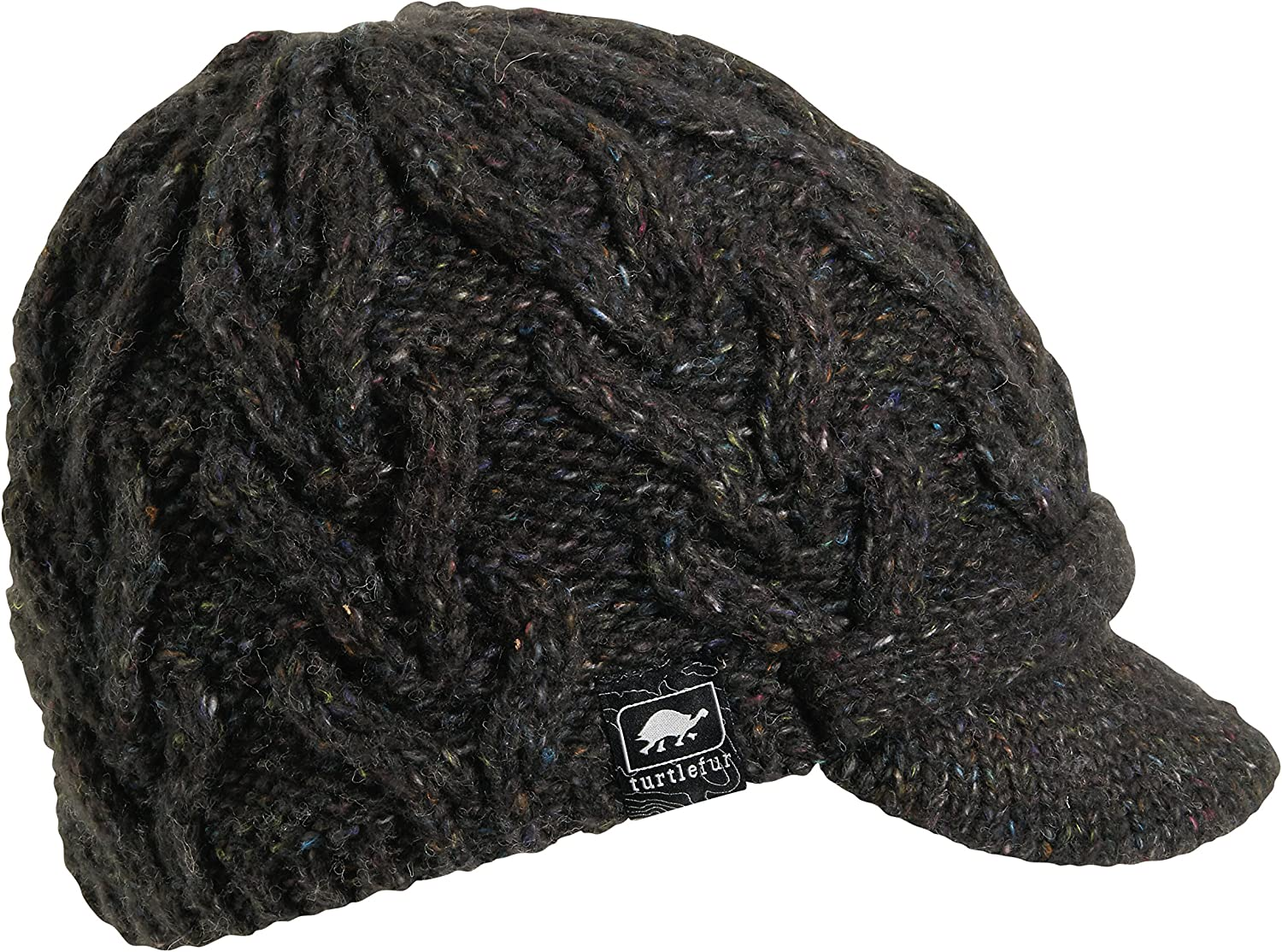 Turtle Fur Womens Simone Fleece Lined Cable Knit Brimmed Beanie