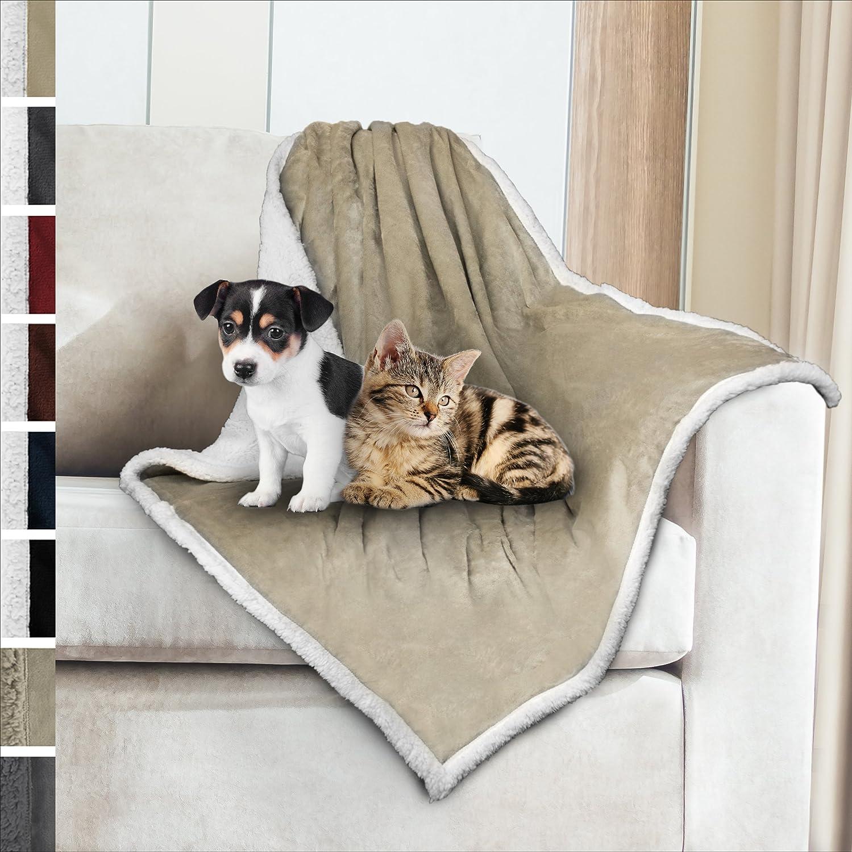Premium Sherpa Dog Blanket | Pet Throw Blanket for Puppy, Small Dog, Medium Dog or Cat Kitten | Reversible, Soft, Lightweight Microfiber Throw – 30 x 40 Inches PetAmi