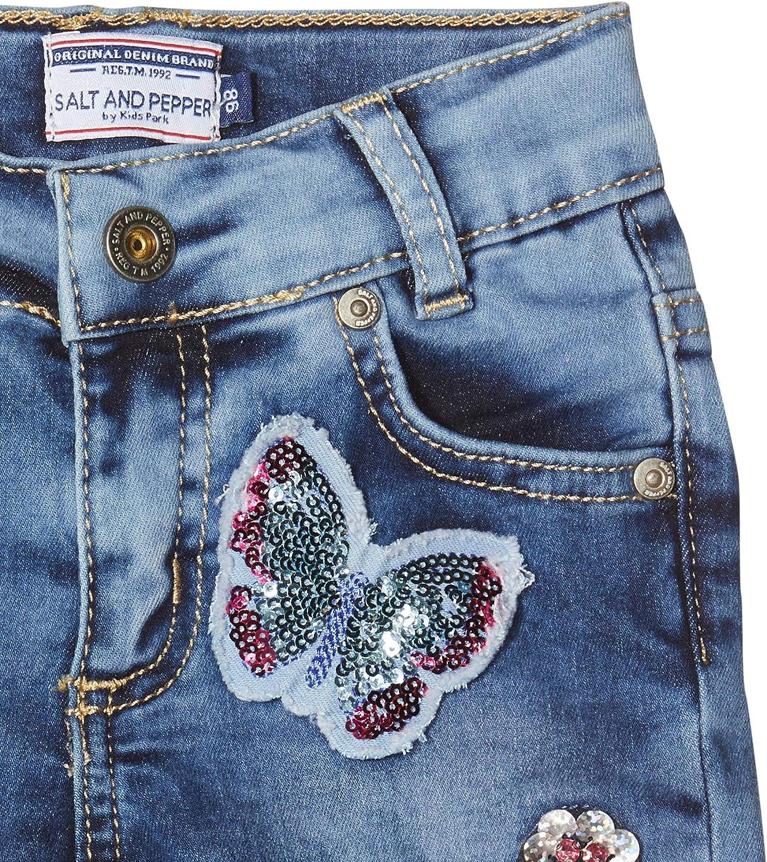 Salt /& Pepper Shorts mit Schmetterlingsstickerei und Pailletten Jeans Bambina