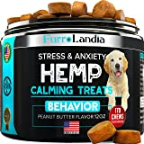 FurroLandia Hemp Calming Treats for Dogs - 170 Soft Chews - Made in Usa - Hemp Oil for Dogs - Dog Anxiety Relief - Natural Ca