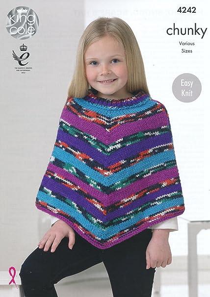 King Cole Girls Big Value Multi Chunky Knitting Pattern Easy Knit ...