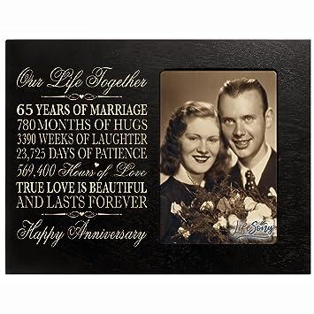 65th Annee Anniversaire De Mariage Cadeau Pour Elle Lui