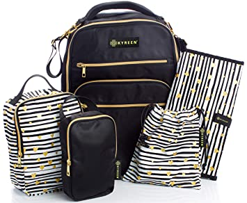 4e783cf2452b Amazon.com   Diaper Bag Travel Backpack for Women  Large Water Repellent  Bags for Mom and Baby   Baby