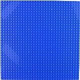 Baseplate, Works with Major Brick Building Sets, Wonderful Plate for Kids (Blue) - Single Piece