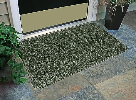 GrassWorx Clean Machine Flair Doormat, 24u0026quot; X 36u0026quot;, Evergreen  (10372033)