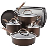 Circulon Symmetry Chocolate Hard Anodized Nonstick 9-Piece Cookware with 2-Piece Bakeware Set