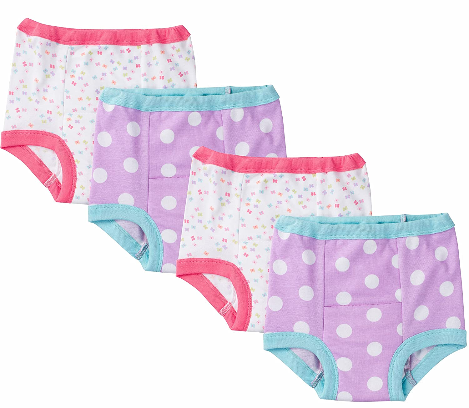Gerber Little Girls' 4 Pack Training Pant 58416416A G14 02T