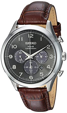 95b24b9b9 Image Unavailable. Image not available for. Color: Seiko Men's Solar  Chronograph Stainless Steel Japanese-Quartz Watch ...