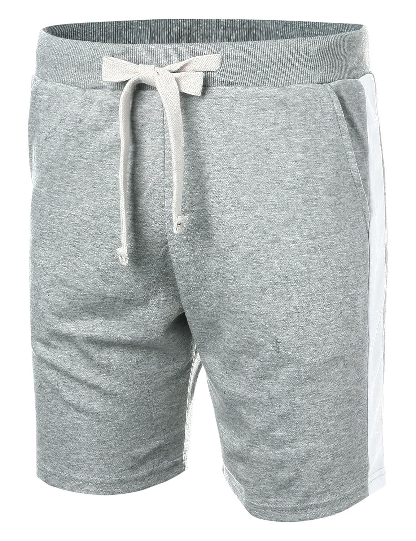 Ohoo Mens Slim Fit Lightweight Training Yoga Active Sweat Short Pants