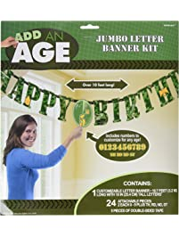 "Camouflage Jumbo Add-An-Age ""Happy Birthday"" Letter Banner"
