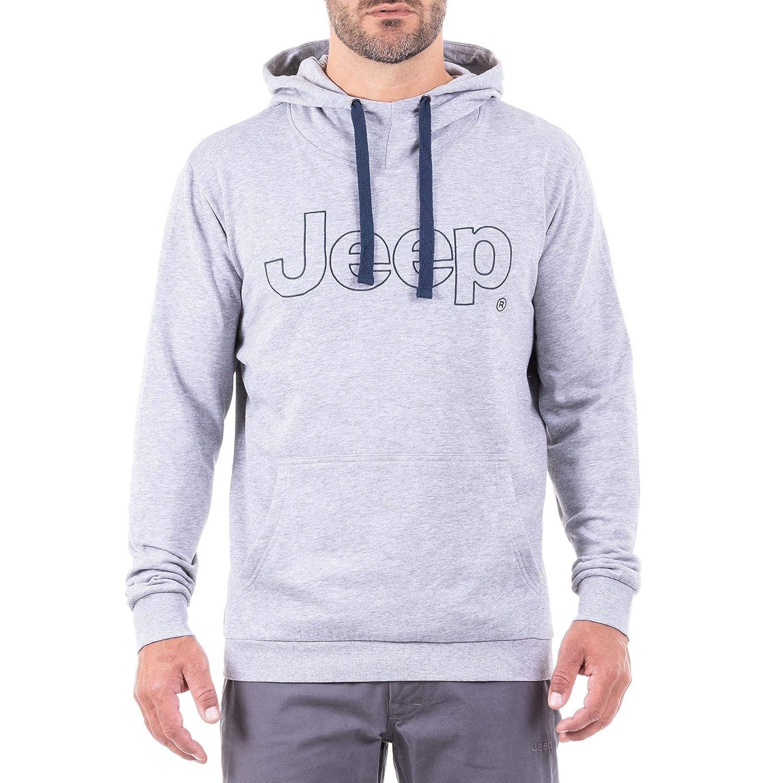 Hellgrau Dunkelblau XL Jeep Herren Hoodie Logo J8w Sweatshirt
