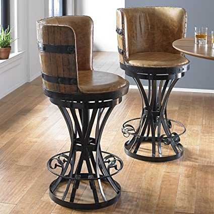 Fantastic Amazon Com Wine Enthusiast Tequila Barrel Stave Stool With Pdpeps Interior Chair Design Pdpepsorg