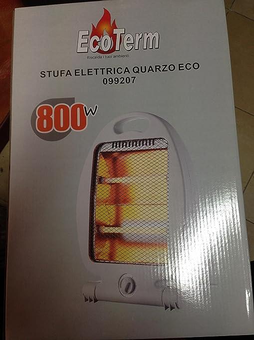 Estufa ECOTERM eléctrica al cuarzo Eco 800 W seguridad antivuelco
