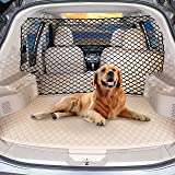 Car pet supplies LPY-Pet Net Vehicle Safety Mesh Dog Barrier SUV/Car/Truck/Van - Fits Behind Front Seats, Black, 1 Count (Pac