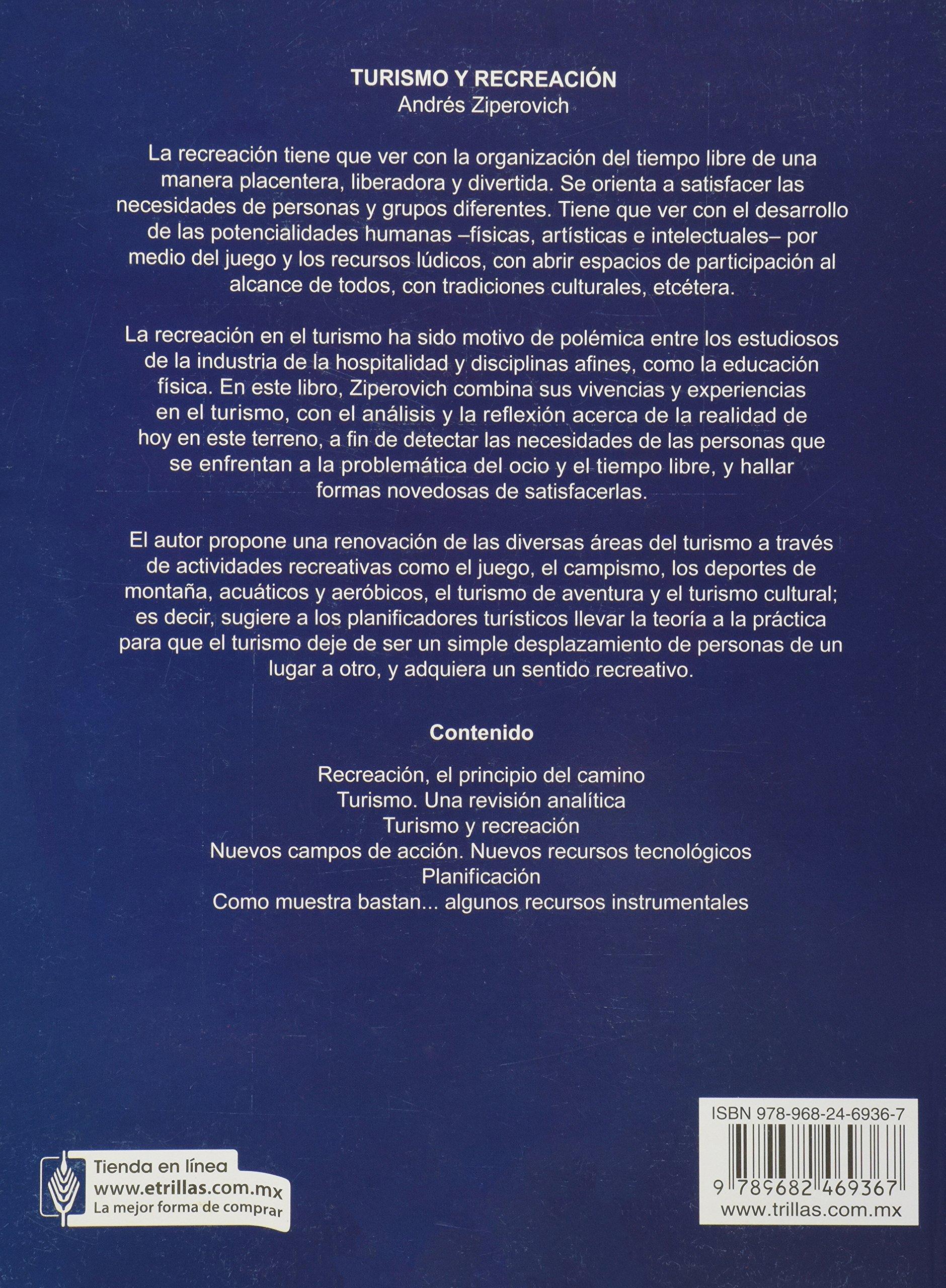 Turismo Y Recreacion Tourism And Recreation Spanish Edition