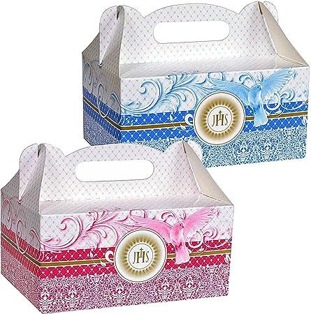 Unbekannt 10/20/30 Caja para Tartas Caja Caja para Pastel Tarta Pasteles Caja de Cartón para Pastas Caja de con asa Comunión, Rosa - 30 Stück, 18,5 x 13,5 x 9 cm: Amazon.es: Hogar