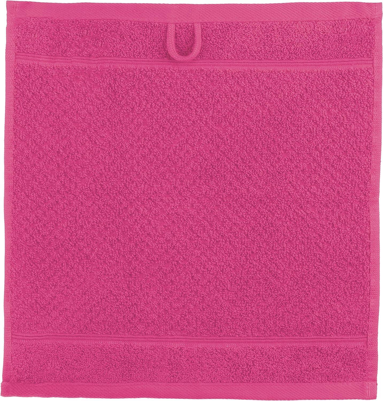 blu royal Brandsseller 470 g//mq Set di 10 asciugamani da bagno 100/% cotone 30x30 cm Cotone 30 x 30 cm