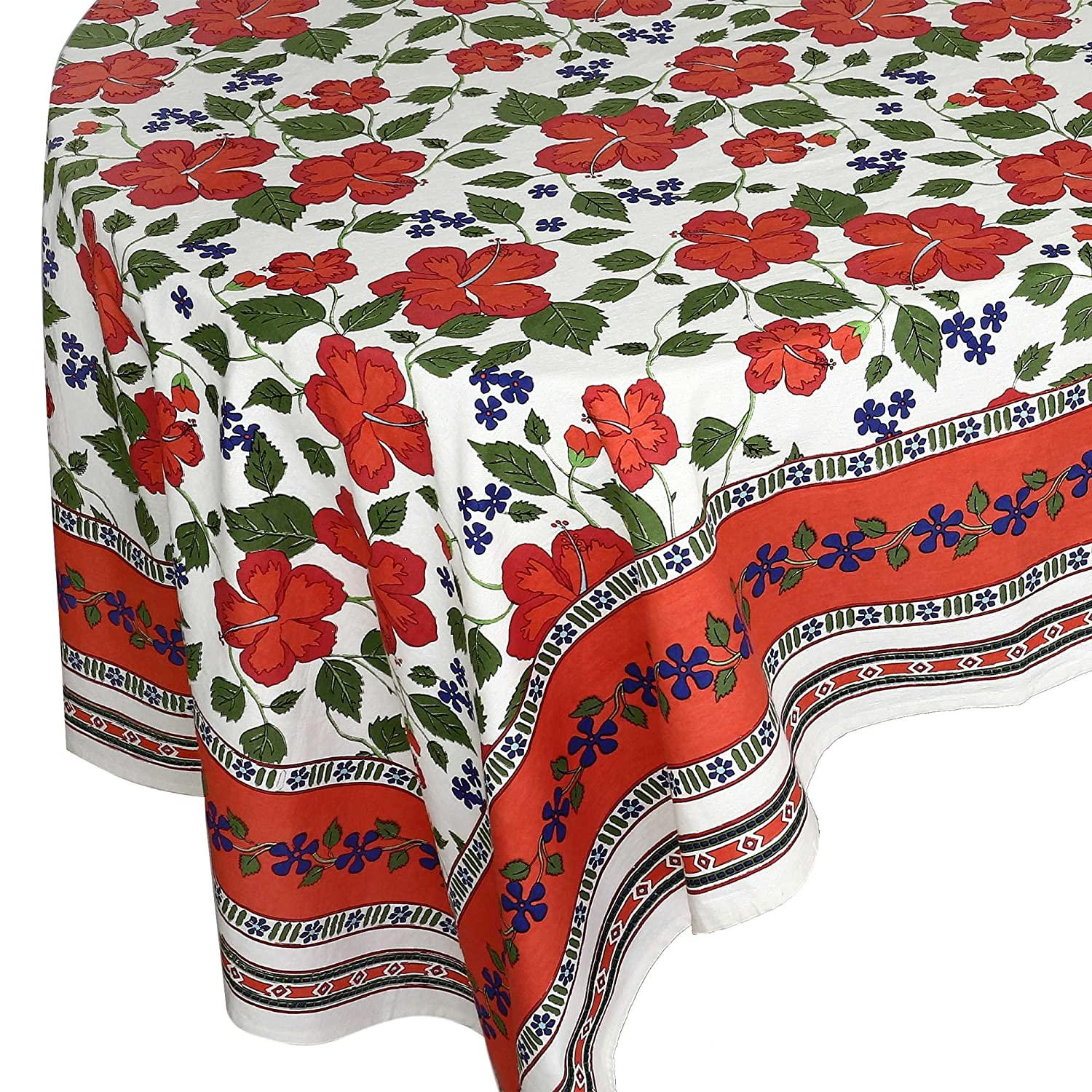 Buy Handloom Fabric Linen Table Cloth Rectangular Floral Indian Online At  Low Prices In India   Amazon.in