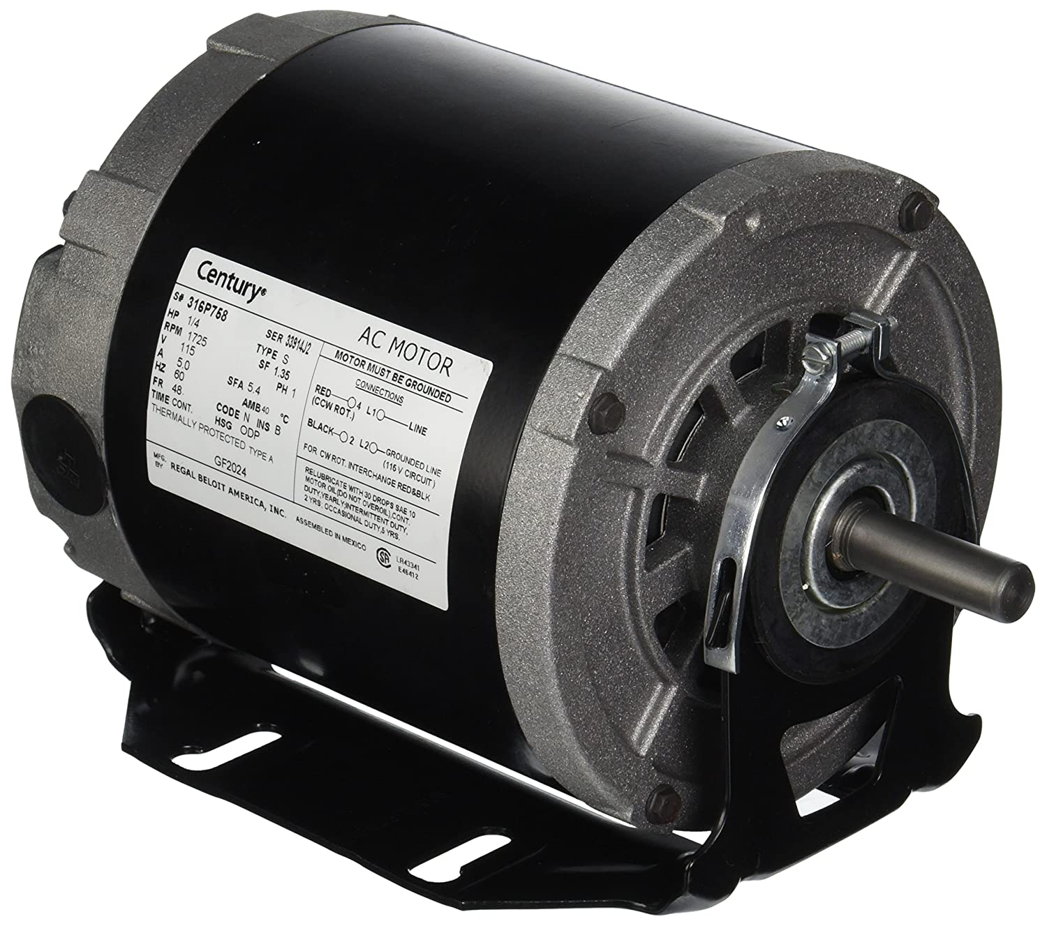 91Ri%2BTSy dL._SL1500_ a o smith gf2024 1 4 hp, 1725 rpm, 115 volts, 48 56 frame, odp  at edmiracle.co