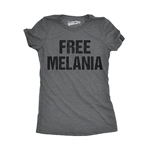 220696405 Crazy Dog T-Shirts Womens Free Melania Funny Political President USA White  House T Shirt