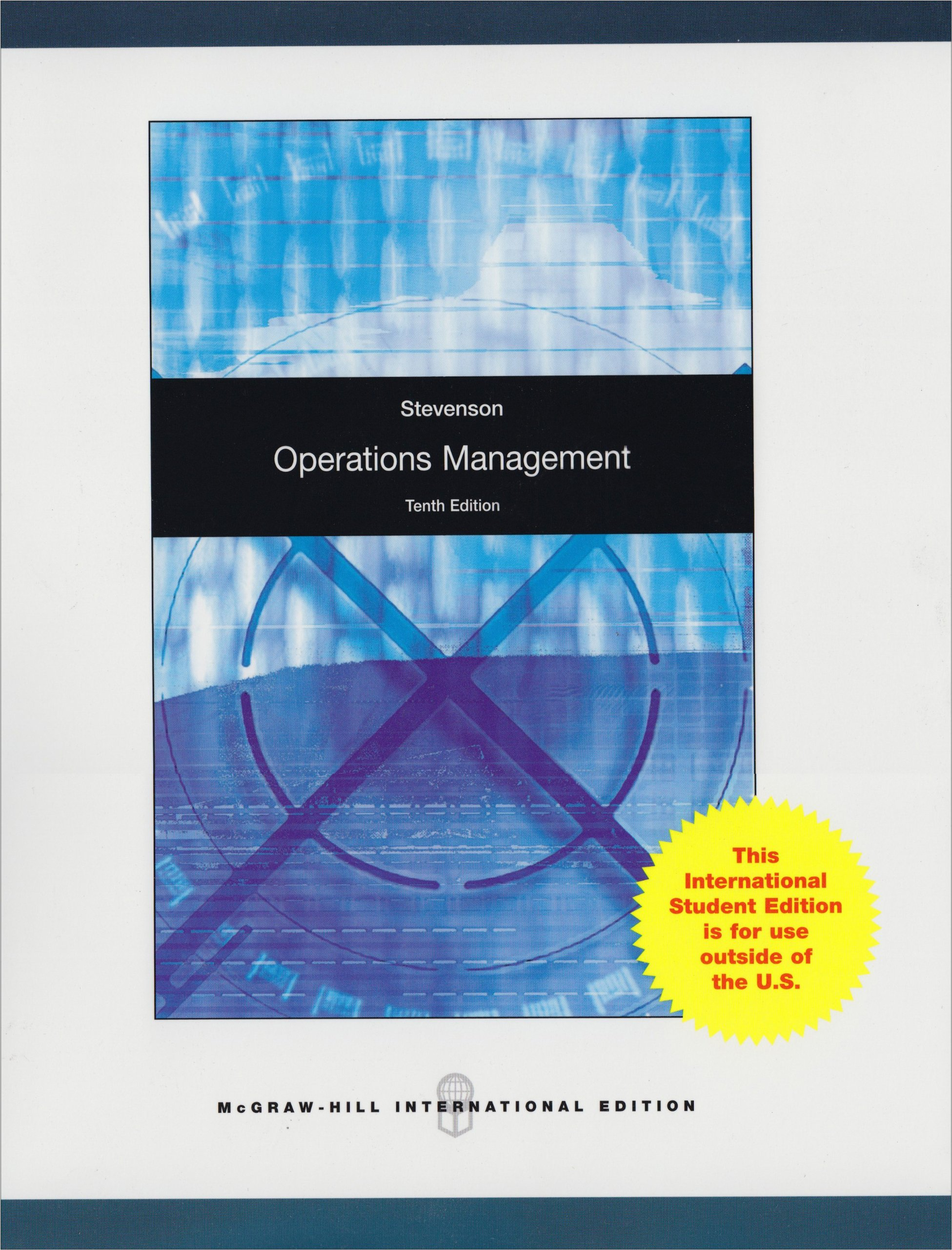 Operations Management (McGraw-Hill/Irwin Series Operations and Decision  Sciences): William J. Stevenson: 9780070091771: Amazon.com: Books