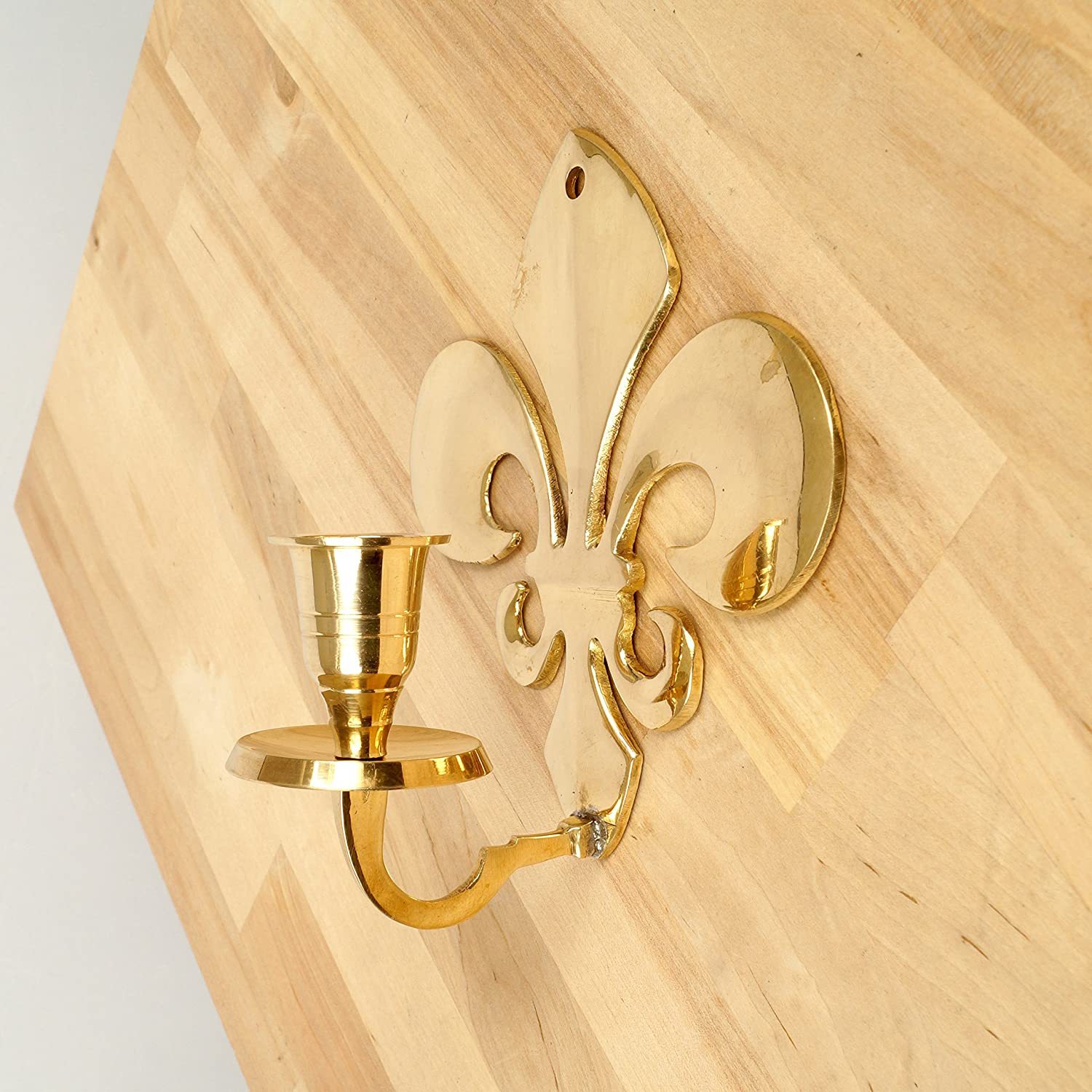 Amazon.com: Wall Candle Holder with a Fleur-de-lis design || solid ...