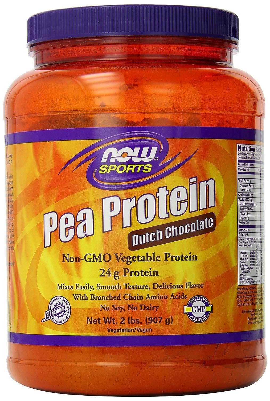 Amazon.com: NOW Sports Pea Protein Dutch Chocolate Powder, 2 ...