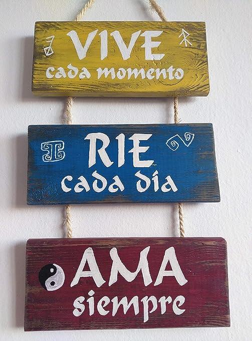 Cartel de madera decoracion, con frases, personalizado ...