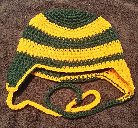 Amazon Hand Crocheted Baby To Toddler Football Helmet Style Hat