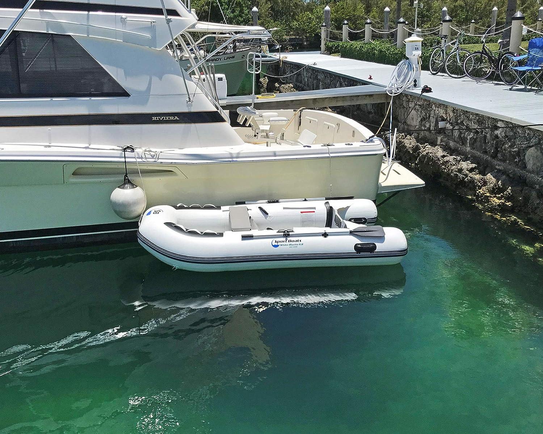 Amazon.com: Barco deportivo hinchable blanco Marlin de 9,8 ...