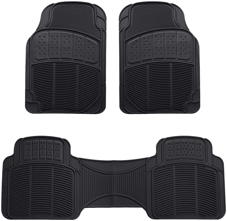 Basics 3 Piece Car Floor Mat Black RL4001B
