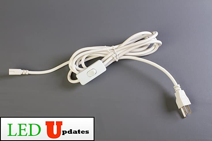 10ft Integrated LED tube power wire cable with On/off switch 3 prong ...