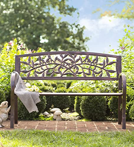 Wind Weather FN9177 Tuscany Iron Metal Outdoor Garden Bench