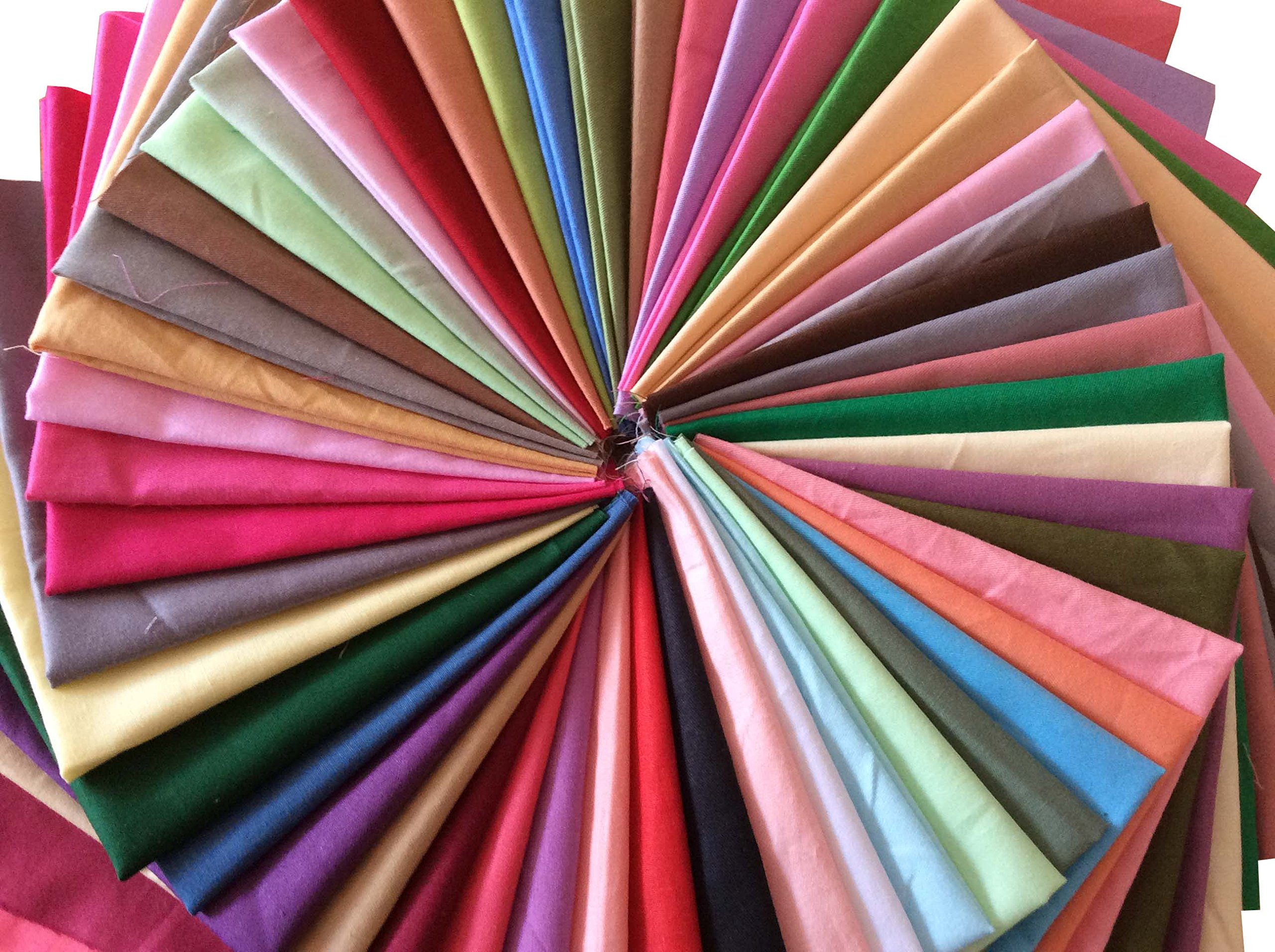 longshine-us 25pcs Solid Colors Premium Cotton Craft Fabric Bundle Squares Patchwork Lint DIY Sewing Scrapbooking Quilting Dot Pattern Artcraft (10'' x 10'') by longshine-us (Image #7)