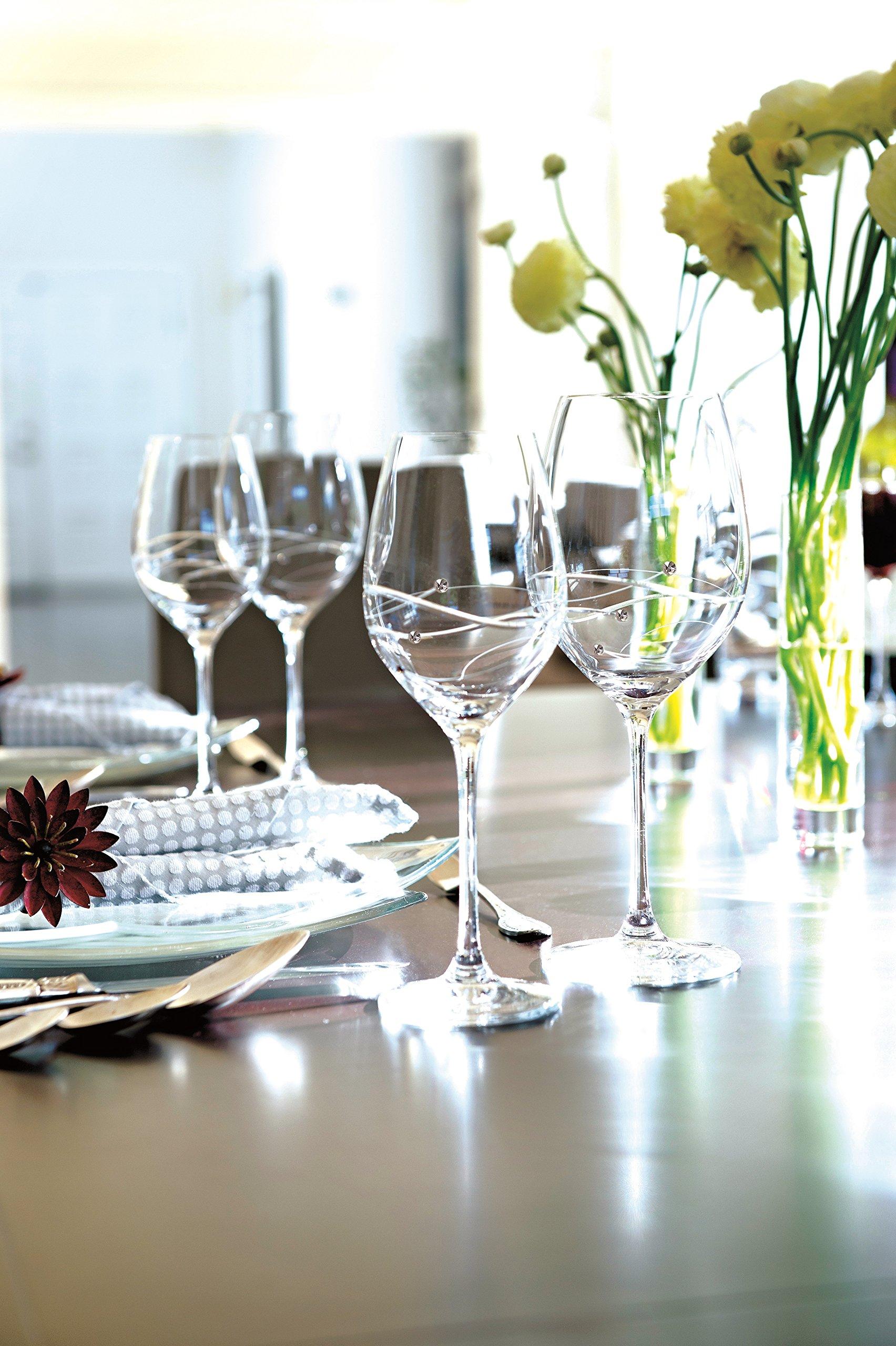 Barski - Handmade Glass - Sparkle - Whiskey Decanter - Decorated with Real Swarovski Diamonds - Gift Boxed - 26 oz .- Made in Europe by BARSKI (Image #5)