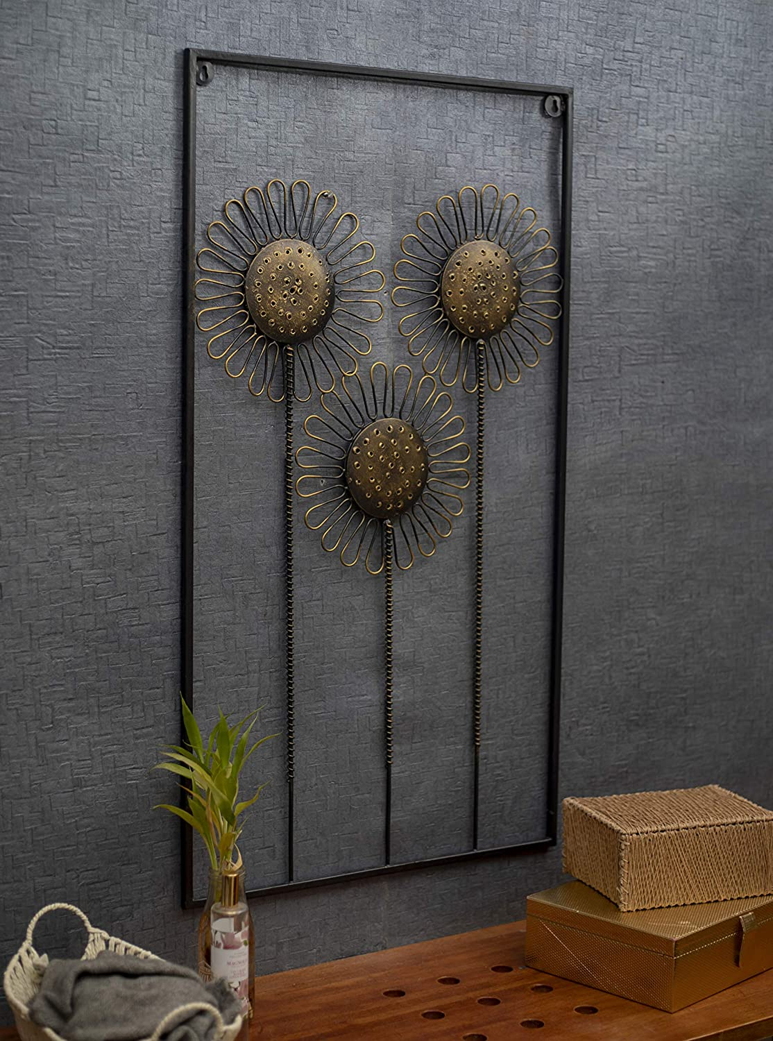 Metal Floral Luxurious Wall Decor for Modern Decorations