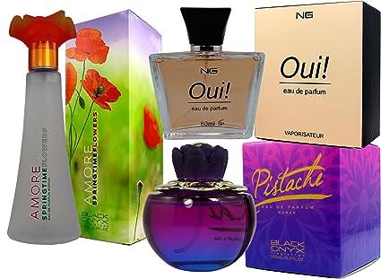 Set de 3 (tres) Perfumes franceses de alta calidad Para Mujer Pistache 100ml +