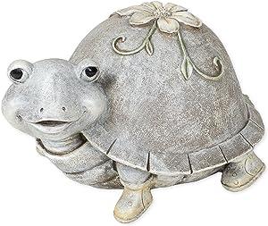 Roman Cute Turtle in Rain Boots 5 x 8.5 Inch Resin Stone Garden Statue Figurine